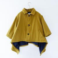 【 michirico 20AW 】MR20AW-18 back fleece coat / マスタード / 100 - 115cm