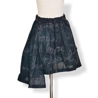 "【 UNIONINI 21SS 】SK-005 embroidery asymmetry skirt  "" スカート ""  / black"