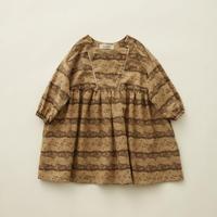 "【 eLfinFolk 20AW 】castle printed dress(elf-202F04)""ワンピース"" / beige  / size 90-100"