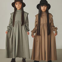 "【 GRIS 21AW 】Tuck Shoulder Gather Dress [GR21AW-CU004] ""ワンピース"" / Alpha Green / size L(135-150)"
