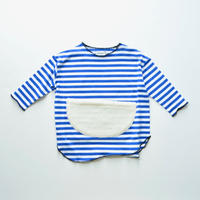 "【 franky grow 20AW 】SLANT BOA POCKET BORDER L/S TEE [20FWCS-370] ""カットソー""  / BLUE*WHITE"