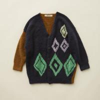 "【 eLfinFolk 20AW 】jura knit  cardigan (elf-202K25)""カーディガン"" / navy"