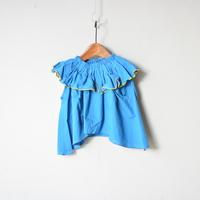 【 folk made 2020SS 】#22 frida-pullover / blue / LL(140-155)