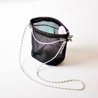 """【 MOUN TEN. 2020SS 】mesh pochette [MT201039]  """"ポシェット"""" / black"""