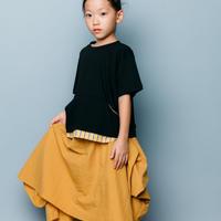 【 nunuforme 2020SS 】ドレープスカート [nf13-709-015A]  / Mustard / F(レディース)