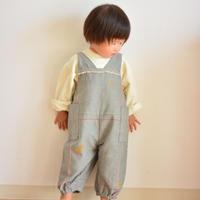 """【 ミナペルホネン 21AW 】ZA3305P choucho """"サロペット"""" / blue gray / 80-90cm"""