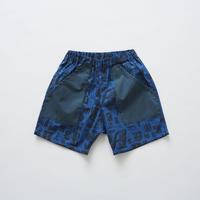 【 eLfinFolk 2019SS 】elf-191F16 stripe×alphabetic print shorts / blue