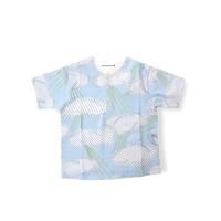 """【 ミナペルホネン 21SS 】ZS8118P after rain """" Tシャツ""""  / light blue / 110-140cm"""