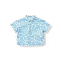 """【 ミナペルホネン 21SS 】ZS1083P biscotto """" カラーシャツ""""  / blue  / 80-100cm"""