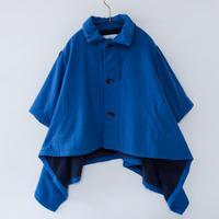 【 michirico 20AW 】MR20AW-18 back fleece coat / ブルー / 100 - 115cm