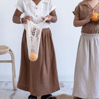 "【 MY LITTLE COZMO 20SS 】SKIRT KIDS - SENA ORGANIC -ERIN86  "" スカート ""  /  TILE  /  3  -  8歳"