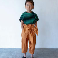 【 folk made 2020SS 】#12 pants with ribbon / brick