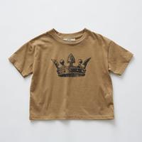 【 eLfinFolk 2019SS 】elf-191J01 crown T-shirts / camel