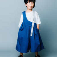 【 nunuforme 2020SS 】ワンサイドテープサロペット [nf13-631-006] / Blue
