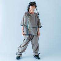 【 nunuforme 21SS 】パイピングシャツ [34-nf15-563-118] / GrayBeige