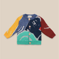 "【 Bobo Choses 20AW 】Multicolor Abstractions Cardigan(22000048)""カーディガン"""