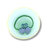 """【 ミナペルホネン 21SS 】ZS7015P ensoku """" ヘアゴム""""  / green"""