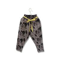 "【 michirico 21SS 】Flora and fauna pants (MR21SS-14)"" パンツ"" / チャコール / 90-115cm"
