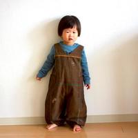 """【 ミナペルホネン 21AW 】ZA3305P choucho """"サロペット"""" / brown / 80-90cm"""