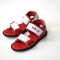 "【 NINOS 】WP Sandal(NTC021 ) "" 海水OK!レザーサンダル "" / GRIS別注カラー RED / 22cm"