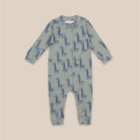 "【 Bobo Choses 20AW 】Zebras All Over Overall(22000107)""ロンパース"""