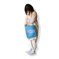 """【 ミナペルホネン 21SS 】ZS7004P after rain """" バッグ 大""""  / blue"""