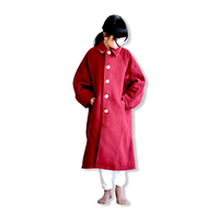 """【 GRIS 20AW】GR20AW-CO001B  Stainless Collar Coat """"コート"""" / Rose / S(100-120)"""