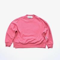 "【 UNIONINI 20AW 】PO-021 side slit big tee "" カットソー ""  / pink"