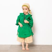"【 folk made 21SS 】taffeta blouse "" カラーブラウス "" / green / S-L"