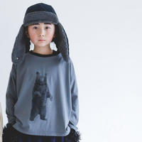 """【 michirico 21AW 】 立ちクマT (MR21AW-01) """" ロンTee"""" / フロストグレー / size M(100-115)"""