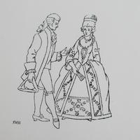 ポルトガルのヴィンテージスタンプ/18世紀のカップル