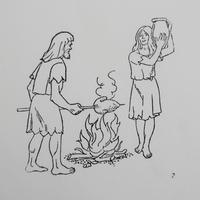 ポルトガルのヴィンテージスタンプ/鉄器時代のカップル