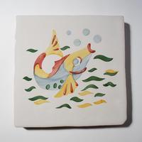 鍋敷き/虹色の魚