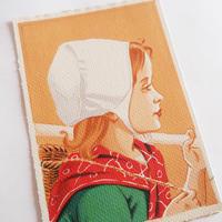 フランスの絵葉書 フランスの少年と少女(2枚組)