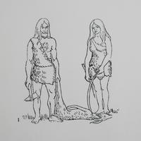 ポルトガルのヴィンテージスタンプ/石器時代のカップル