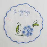 サン・ジョルジェ島の刺繍のコースター/サン・ジョルジェ島のアジサイ