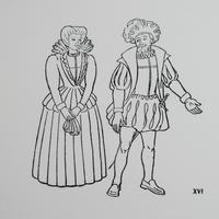 ポルトガルのヴィンテージスタンプ/16世紀のカップル