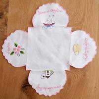 サン・ジョルジェ島の刺繍のパン包み(ピンク)