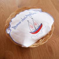 サン・ジョルジェ島の刺繍のパン包み(ブルー)