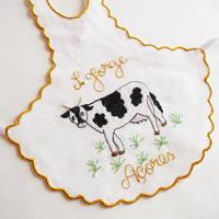 サン・ジョルジェ島の刺繍のボトルエプロン/牛