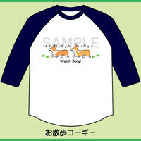 7分袖ベースボールTシャツ(ボディ色:ホワイト×袖ネイビー)