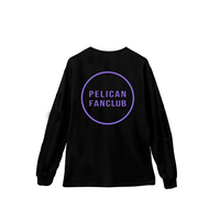LOGO LONG-SLEEVE TEE(BLACK/PURPLE)