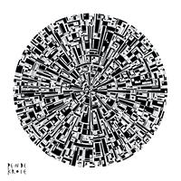 Poster 幾何学的な円模様2