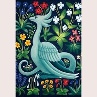 ポストカード「千花の飛竜」