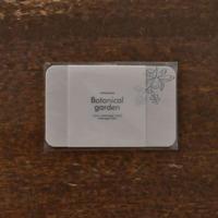 活版印刷ミニメッセージカード ブルーベリー グレー