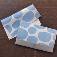 メガネが拭ける和紙懐紙 レンズドット ブルー