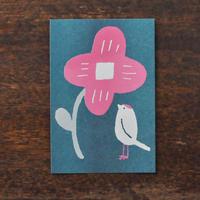 ヨツモトユキ ポストカード 「花と小鳥」