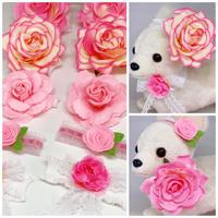 pink rose💓ストレッチチョーカー/20cm×10本