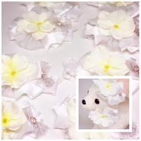 白紫陽花✨ストレッチチョーカー/30cm×10本