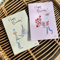 ナカムラユキイラスト バースデーポストカード【2種類×3枚】6枚セット